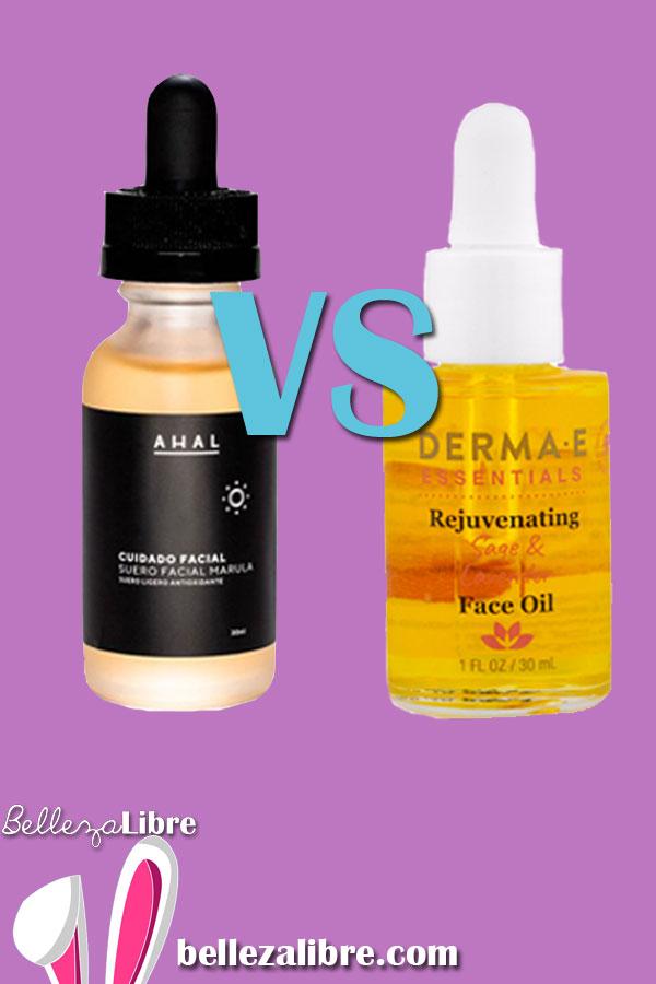 Pin Aceites faciales: Ahal vs. Derma E