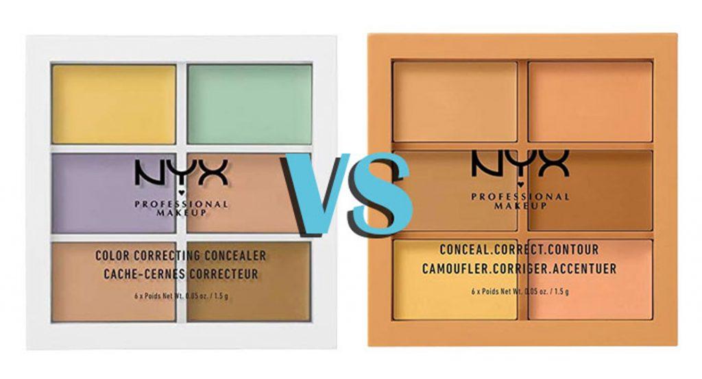la diferencia entre las paletas de correctores de NYX Cosmetics
