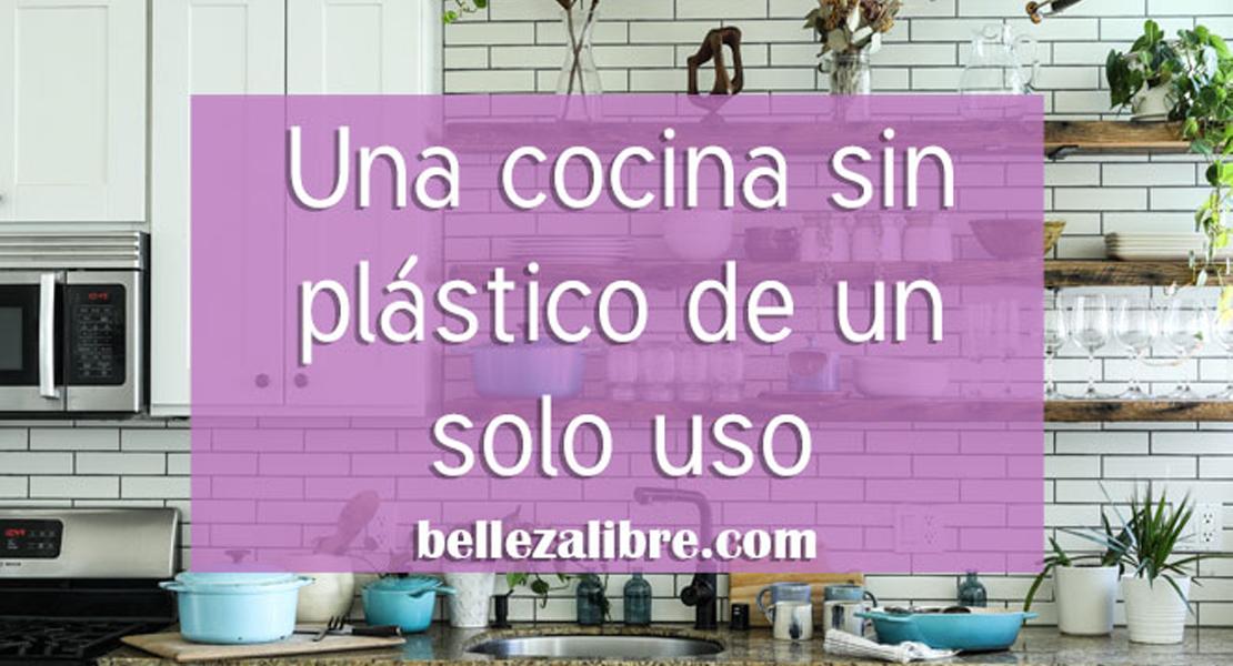 Una cocina sin plastico de un solo uso para un hogar eco amigable