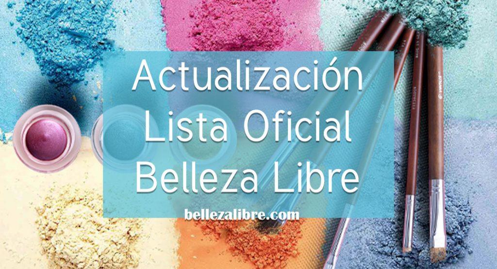 Actualización Lista Oficial Belleza Libre polvos azules