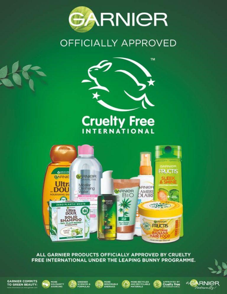 Garnier es libre de crueldad imagen oficial