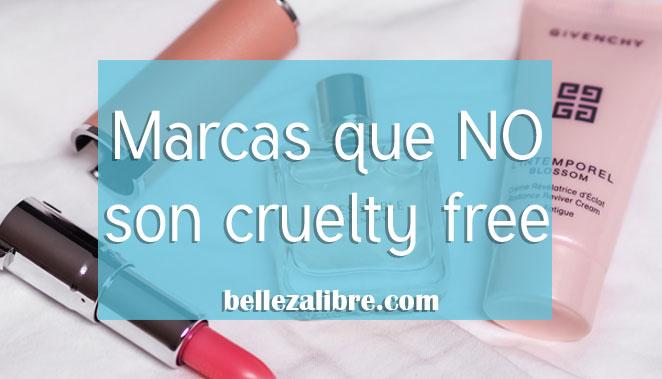 Marcas que no son cruelty free