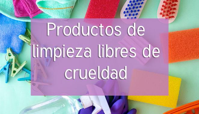 Productos de limpieza libres de crueldad